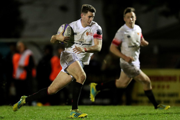 Jack Kelly on his way to scoring a try