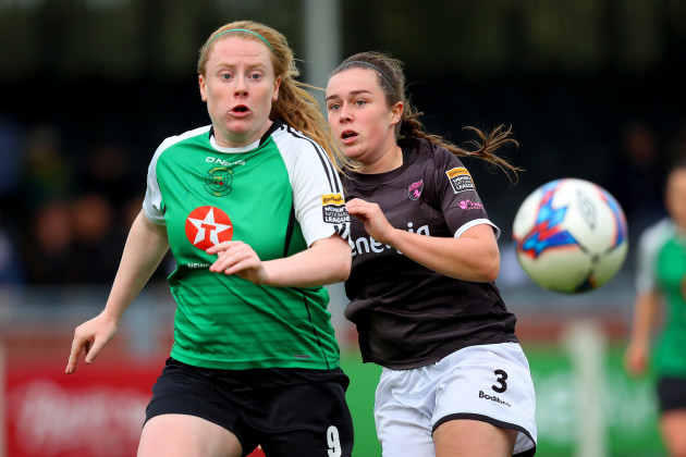 Orlaith Conlon with Amber Barrett