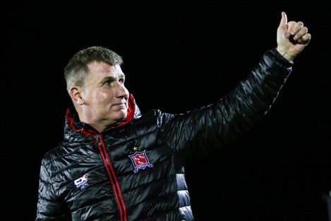 Stephen Kenny celebrates after the game 12/10/2018