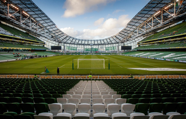 A view of Aviva Stadium ahead of the game
