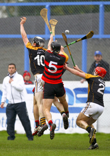 Philip Mahony flicks the ball into the goal in injury time