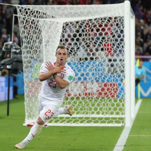 FIFA World Cup 2018 Russia. Group E. Serbia v Switzerland at Kaliningrad stadium.