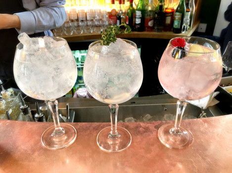Gin and tonics at the Distillery in London