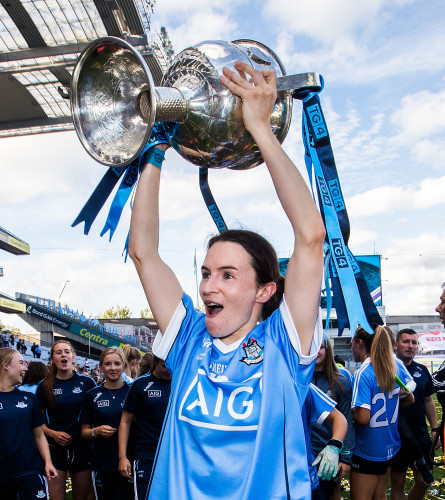 Sinead Aherne celebrates after the game