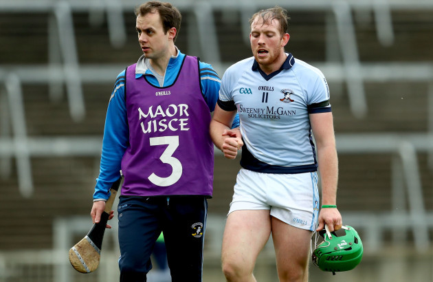 Dr. Kieran Breen with the injured Shane Dowling