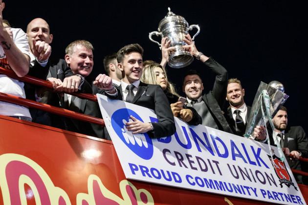 Brian Gartland with the FAI Cup trophy