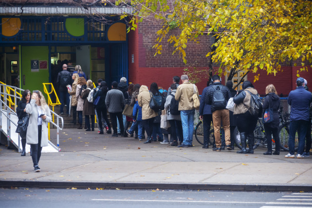 NY: Long lines at polling stations in New York