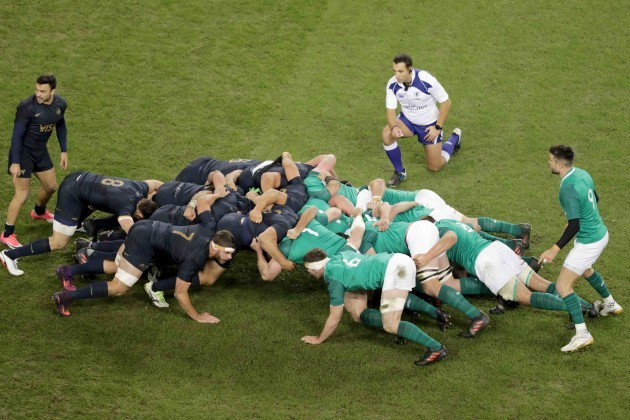 Ireland Argentina scrum