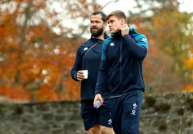 Andy Farrell and Garry Ringrose