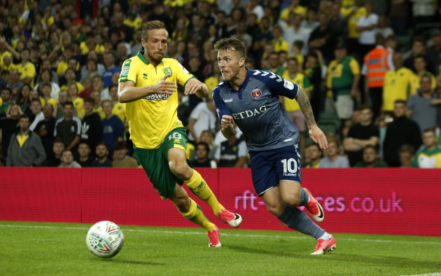 Norwich City v Charlton Athletic - Carabao Cup - Second Round - Carrow Road