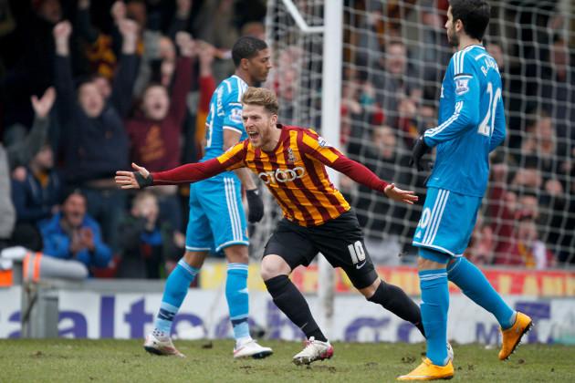 Soccer - FA Cup - Fifth Round - Bradford City v Sunderland - Valley Parade