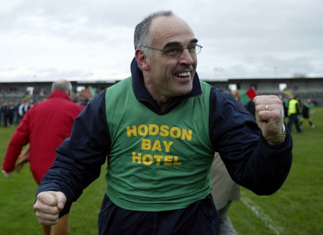 Manager Anthony Cunningham celebrates at the final whistle