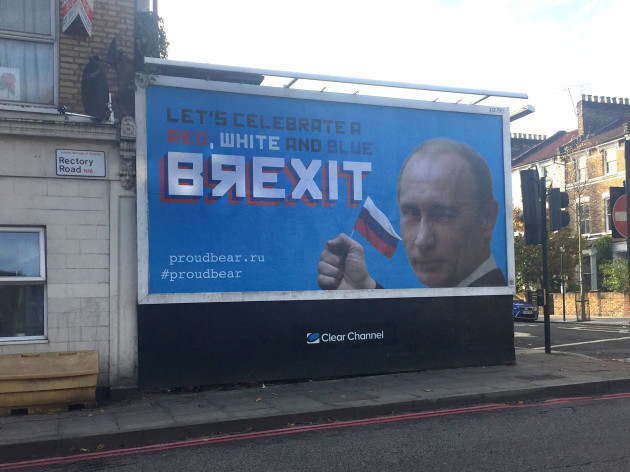 UK and Russia Brexit billboards