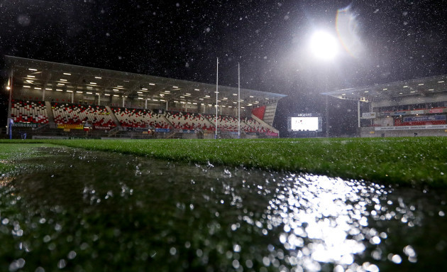 A view of the Kingspan Stadium before the game