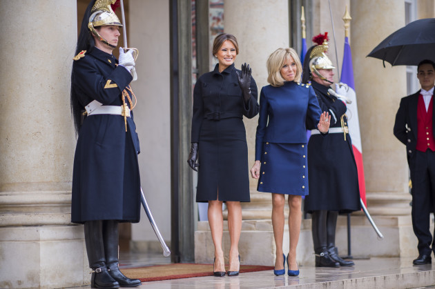 Brigitte Macron receives US First Lady Melania Trump at Elysee - Paris