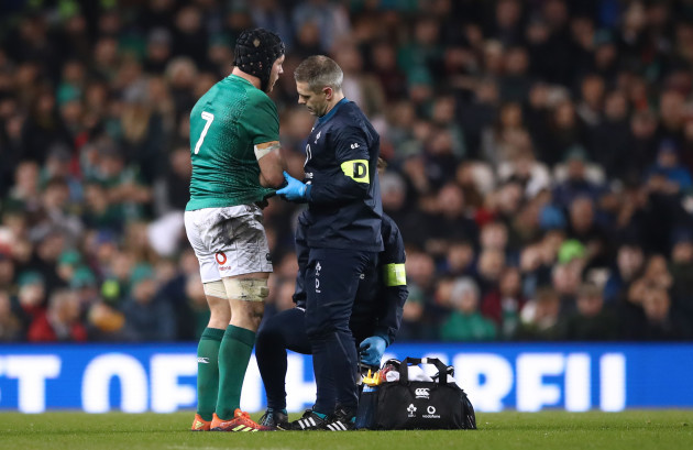 Sean O'Brien injured with Dr. Ciaran Cosgrave