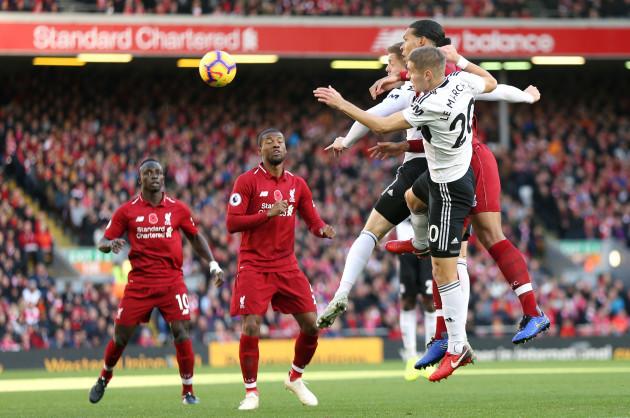Liverpool v Fulham - Premier League - Anfield