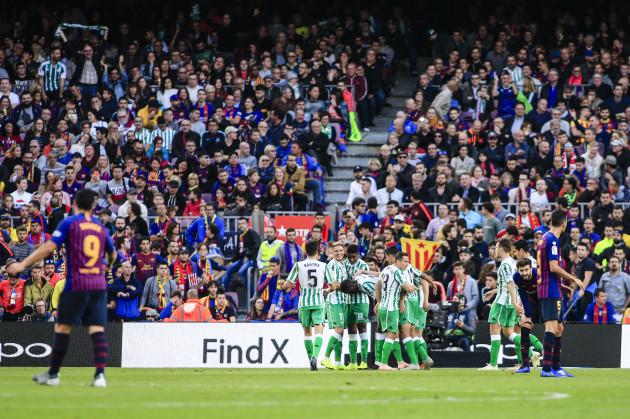 Spain: FC Barcelona v Real Betis Balompie - La Liga