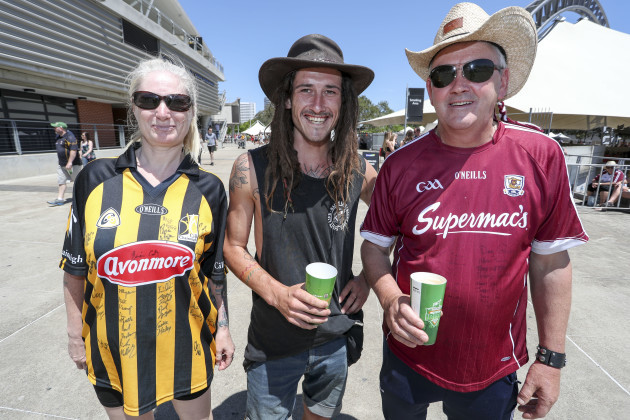 Kilkenny and Galway fans before the game