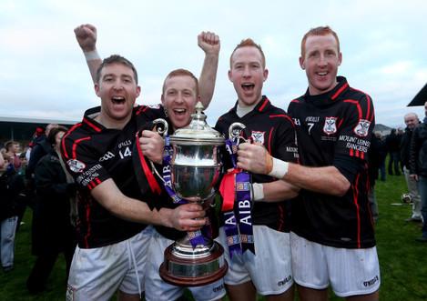 Brothers' John Coady, Richard Coady, Paul Coady and Edward Coady celebrate