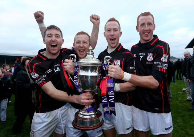 Brothers' John Coady, Richard Coady, Paul Coady and Edward Coady celebrate