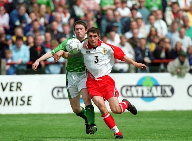 Aaron Hughes/Robbie Keane 29/5/1999