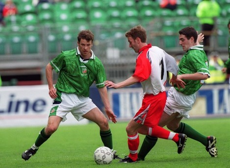 Keith Rowland/ Kenny Cunningham and Mark Kennedy 29/5/1999