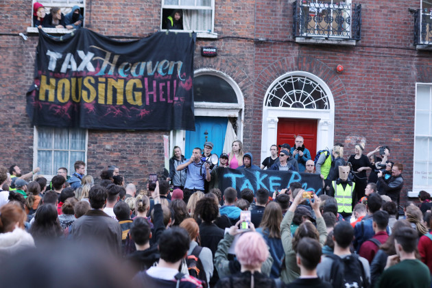 Take Back the City activists protest