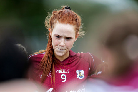 Olivia Divilly dejected after the game