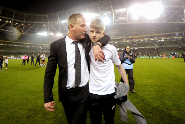 Stephen Kenny with his son Fionn