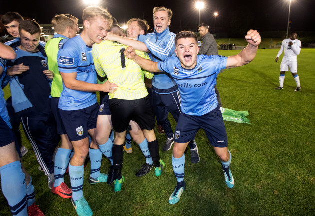 Daire O'Connor celebrates winning