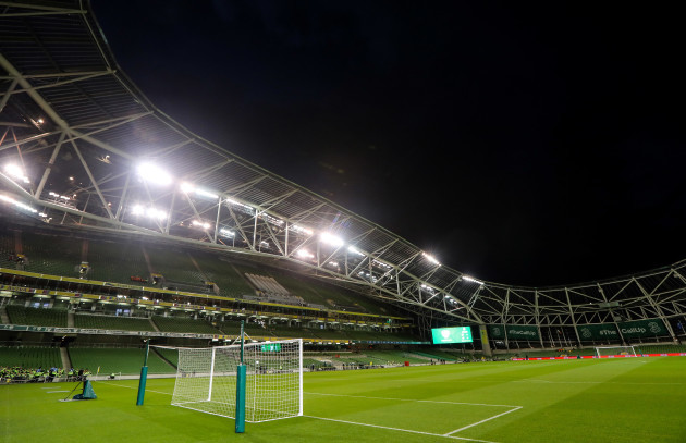 A view of the Aviva Stadium ahead of the game
