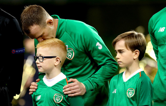 Glenn Whelan with his son Jack