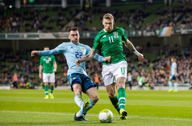 James McClean with Michael Smith