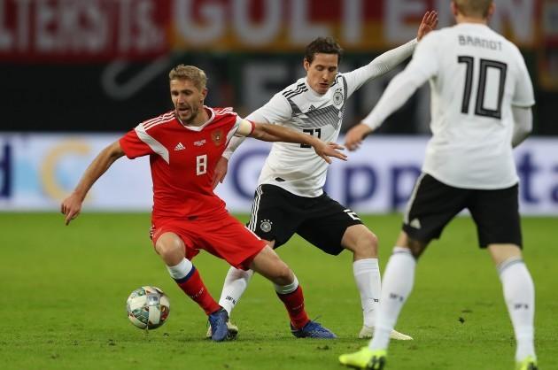 firo: 15.11.2018 MEN'S NATIONAL TEAM Landerspiel Friendly Match Germany - Russia Russia