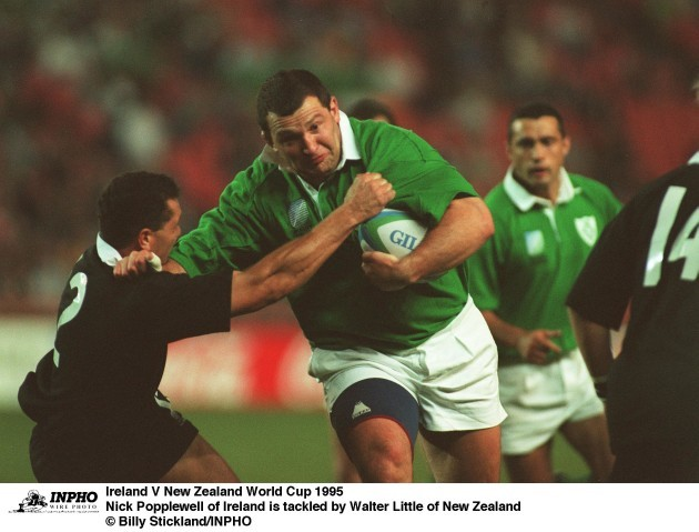 Nick Popplewell Walter Little Ireland V New Zealand World Cup 1995