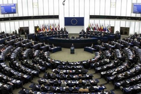 France: German Chancellor Angela Merkel Addresses the European Parliament