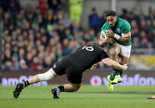 Bundee Aki with Dane Coles