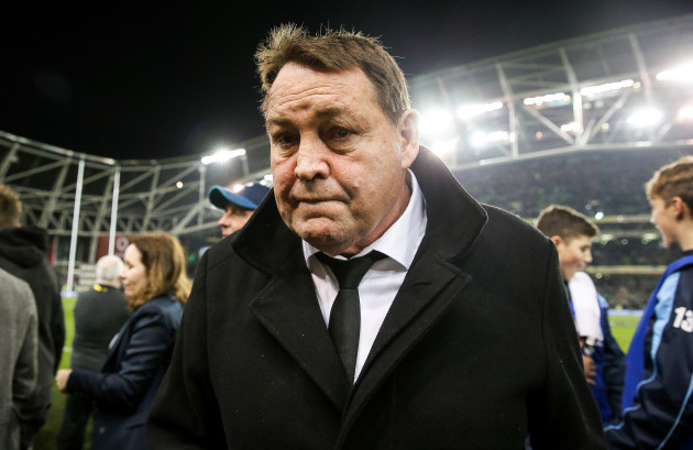 Steve Hansen dejected after the game