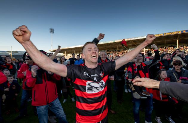 Ian Kenny celebrates winning
