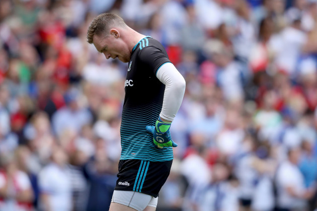 Rory Beggan dejected after the game