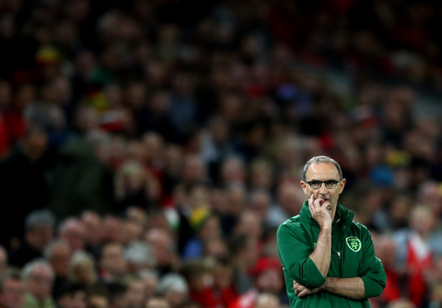 Martin O'Neill watches on late in the game