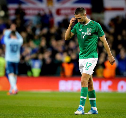 Conor Hourihane dejected