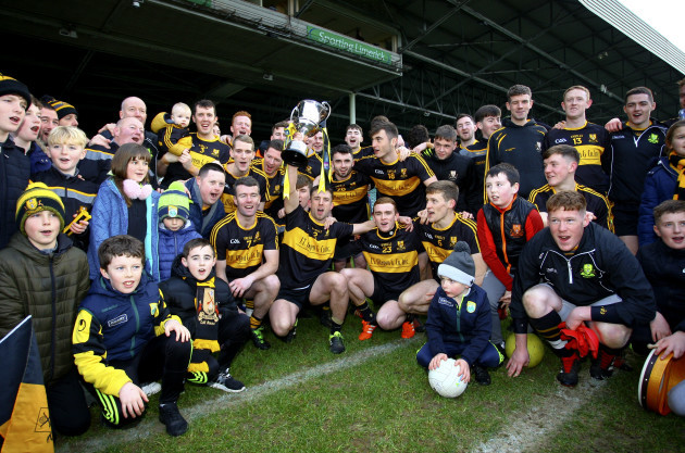 Dr. Crokes players and supporters celebrate