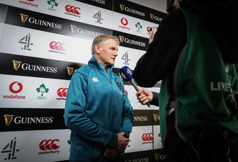 Joe Schmidt speaking with Channel 4 before the game
