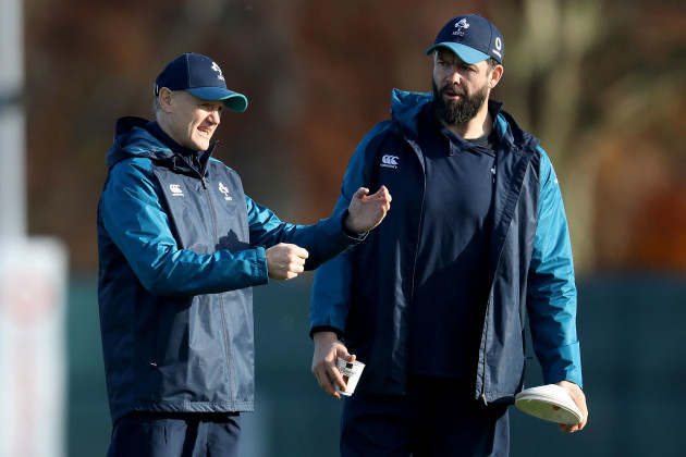 Joe Schmidt with Andy Farrell