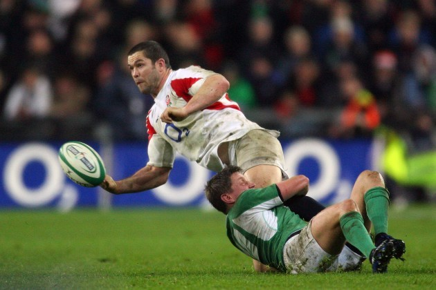 Andy Farrell tackled by Ronan O'Gara