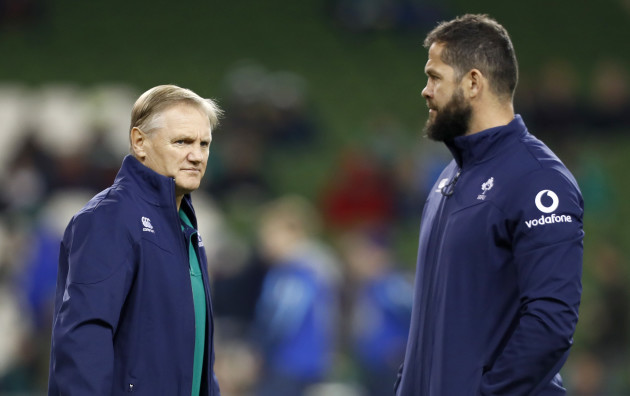 Ireland head coach Joe Schmidt with Andy Farrell