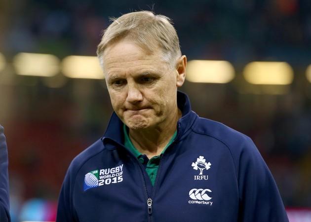 Joe Schmidt dejected after the game