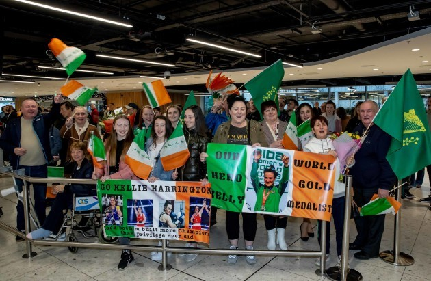 Fans greet Kellie Harrington